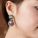 Ayala bar Hip collection pierced earrings Conifer Green コニファーグリーン