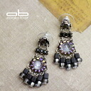 Israeli designer Ayala bar pierced earrings midnight purple