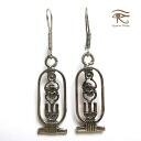 Egypt Silver 925 earrings Egyptian Silver925 Jewerly hierogrivkartouche tut