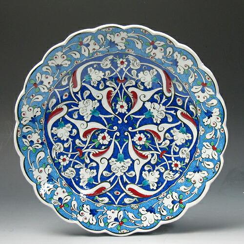 手绘瓷盘画博物馆25厘米菜片kyutaya土耳其