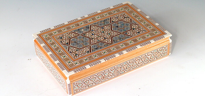 Mother of Pearl エジプト・アラベスクのジュエリーボックス