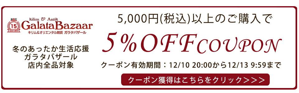 5,000円以上のご購入で5%OFF