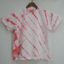 """Red slash' aperture dye original stain short sleeve T shirt / original t shirt / tie-dye"