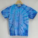 """Blue Lagoon"" Aperture dye original stain short sleeve T shirt / original t shirt / tie-dye"