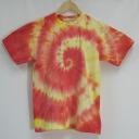 """Red lagoon"" diaphragm irregularity dyeing original dyeing short sleeves T-shirt / original t shirt / tie-dyeing dyeing"