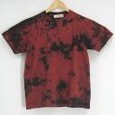 """Carmine black"" diaphragm irregularity dyeing original dyeing short sleeves T-shirt / original t shirt / tie-dyeing dyeing"