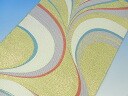 Pure silk Nishijin Obi fabrics fabric sewing craft rare ☆ Nishijin Obi agile silk 100% about 33 x 50 cm