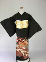 Formal wedding ceremony women kimono dress Edo wife several years ago tomesode tomesode re low cheap kimono wedding wedding kimono kimono round black tomesode rental No.107