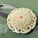 Hand-carved belt clasp 'mum', [R] fs3gm