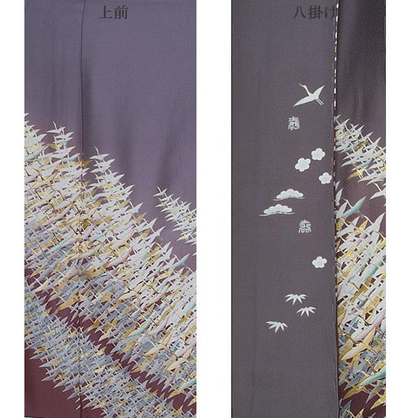 紋意匠丹後ちりめん 正絹着物 正絹色留袖