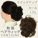 "Throw it away, and quick up car reportage ""is chestnut with natural color, chestnut, the creamy""; FONTAINE hairpiece chignon cover type <R>"