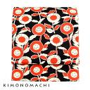 Nagoya Obi belt cotton ' black x red レトロフラワー ' Kyoto kimono town original casual band Frank belt 05P02Aug14