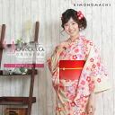 "Ladies yukata single item ""Light Cream Plum""Cotton Pret Yukata"