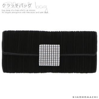 手拿包,和洋兼用[黑色,水鑽]結婚典禮,式典,派對,2用包
