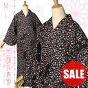 Washable two-part ceremony kimono M, L size-black Calico Kyoto kimono town original fs 3 gm
