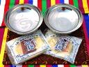 Korea noodles set! (Korea noodles «blue characters 1» x 2-18.5 cm instrument x 2)