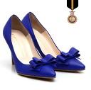 2015 spring summer new ☆ beauty legs pumpscorksole / Gladiator / hot pink / summer style / high heels / zipper ☆ ribompointedtu pumps ☆ artisan HandMade production