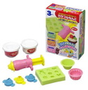 Colorful papier mache Xibe press set (with a clay 2 colors)