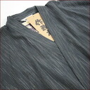 Samue Shiji was color sanded pinstriped sallow weave ★ M ~ LL size charcoal black vertical stripes 10P18Oct13