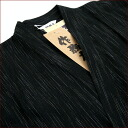 Samue Shiji was color sanded pinstriped sallow weave ★ M ~ LL size black vertical stripes 10P18Oct13