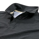 16 / 1 Cotton slab tenjiku short sleeve solid polo shirt # 6: charcoal grey