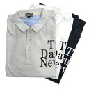 16 / 1 cotton slab tenjiku short sleeve transfer print polo shirt the News pattern