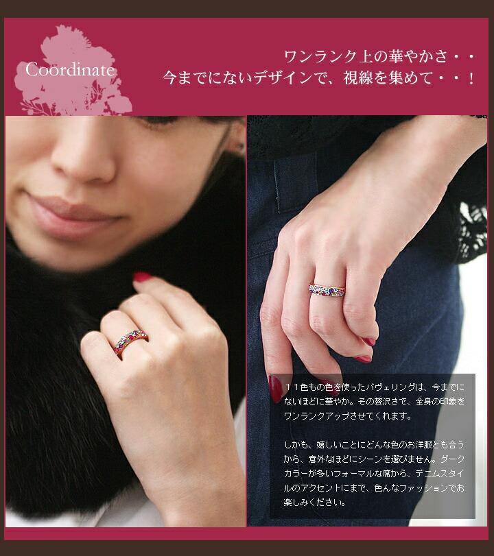 指輪の装着画像