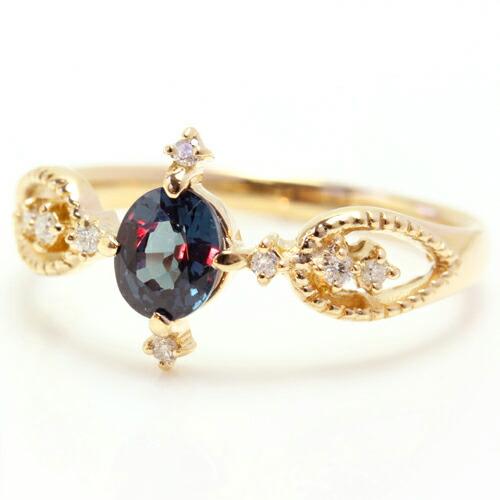 ベキリーブルーガーネットの指輪