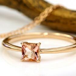 インペリアルトパーズのK18リング(指輪)
