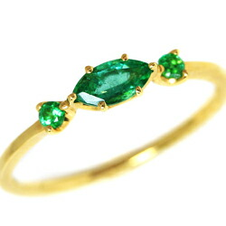 エメラルドのK18リング(指輪)