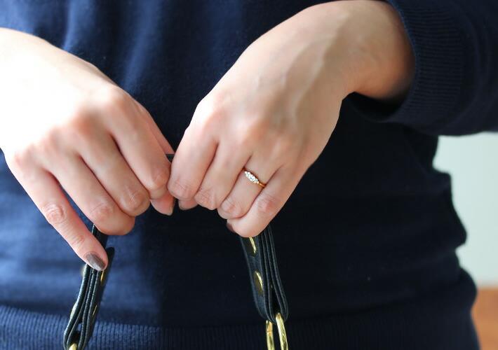 ダイヤモンドのリング「フラヴィ」の着用イメージ