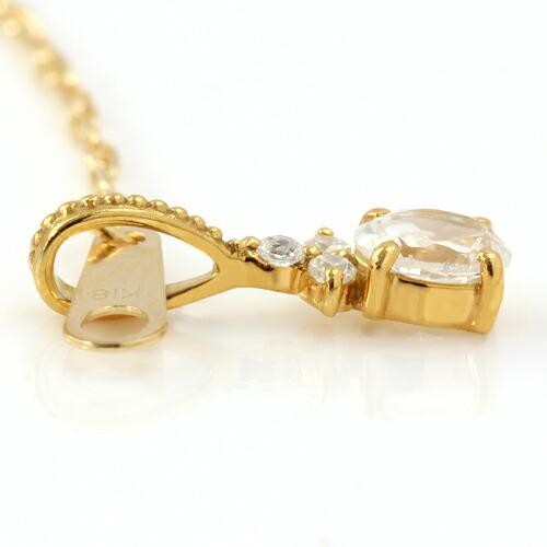 ダイヤモンドのペンダントップ「フラヴィア」横画像