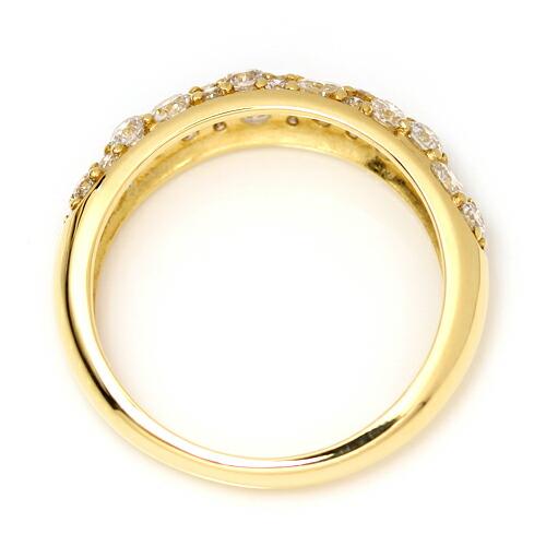 SIクラス以上0.85ctダイヤモンド18金パヴェリング「ルミエールブーケ」の詳細