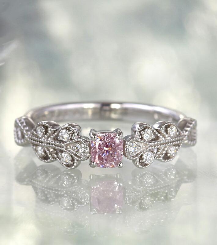 アーガイル産天然ピンクダイヤモンドのプラチナリング
