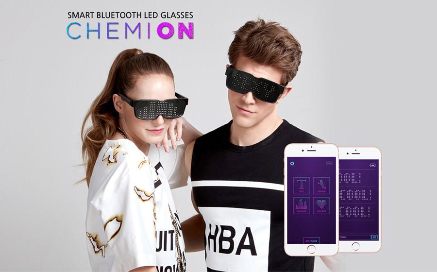 chemion led bluetooth blasses ケミオン happyjoint サングラス 眼鏡 メガネ めがね 動く 光るサングラス edc スマートグラス smart パリピ パーティーグッズ 光るグッズ 最新 パーティー フェス イベント edm