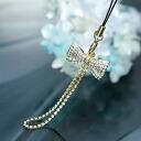 スワロフスキーパヴェリボン carrying strap / gold crystal
