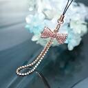 スワロフスキーパヴェリボン carrying strap / pink crystal