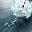 スワロフスキーパヴェリボン carrying strap / silver crystal