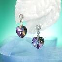 Fantastic brightness…☆ Swarovski crystal pierced earrings heart / ヴィトレイルライト
