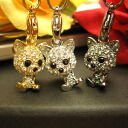 Neck cute ♪ スワロフスキーキラ ☆ Super sparkly cat strap