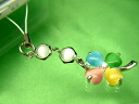 Good luck ♪ cat style 4 leaf clover cell phone strap (mix)