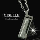 Necklace men jewelry pair necklace stainless steel / black (GLE-KJ-SP025-BK)