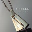 ジュエリーペアネックレス stainless steel and pink gold ( GLE-KJ-SP025-PG )