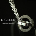 AMOU stainless steel jewelry pair necklace / men black (GLE-SP004-MBK)