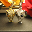 Glitter ☆ Swarovski Kira owl strap more than neck swing of cute ♪