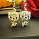 Neck pretending cute ♪ super sparkly ☆ スワロフスキーキラ bear strap