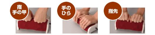 指・手の甲/手のひら/指先