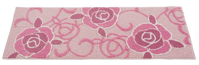 工作人员很大的玫瑰花纹图案马特 厨房垫 45 × 120 厘米