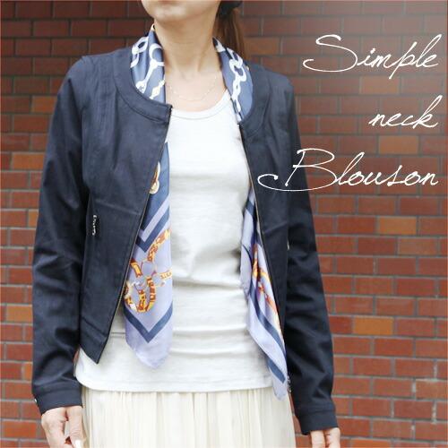 【SALE☆】【日本製】【ジャケット】優雅な着心地。カジュアルにもきちんとも対応する綿麻 ノーカラーブルゾン