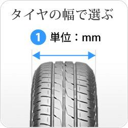 タイヤの幅で選ぶ